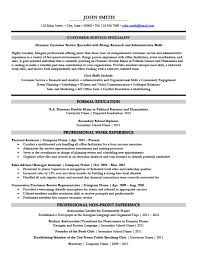 Resume For Customer Support Specialist Professional Resume Templates