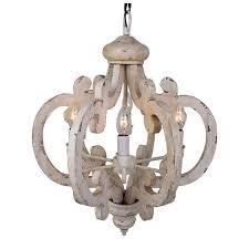 white distressed chandeliers 6 light antique wooden chandelier