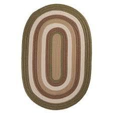 green braided area rug