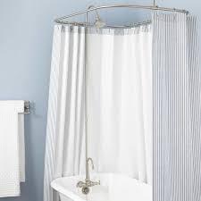 clawfoot tub shower fixtures. gooseneck clawfoot tub shower conversion kit - brass head brushed nickel fixtures p