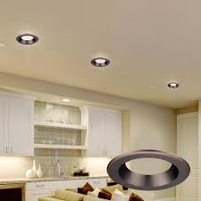 Decorative Rings For Recessed Lighting Envirolite 4 In Decorative Bronze Trim Ring For Led Recessed Light With Trim Ring
