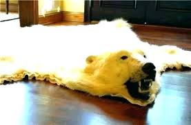 polar bear rug faux real skin without head fur with ikea