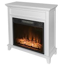 akdy fp0094 27 electric fireplace freestanding white wooden mantel firebox heater 3d flame w