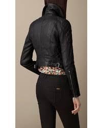 Burberry Grainy Leather Quilted Biker Jacket | Where to buy & how ... & ... Burberry Grainy Leather Quilted Biker Jacket ... Adamdwight.com