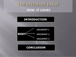 how to write a literary essay how it looks introduction body conclusion argument 1 argument 2 argument 3 7