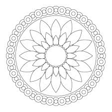 Mandala Printable Coloring Pages Free Easy At Projectelysiumorg