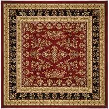 safavieh lyndhurst red black 8 ft x 8 ft square area rug
