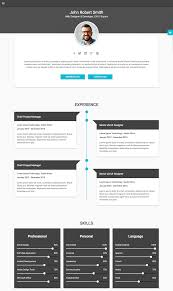 Html Resume Template 16 Minimal Html Resume With Free Download