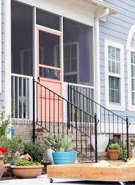 concrete slab patio makeover.  Makeover An Orange Screen Door Next To A New Patio Inside Concrete Slab Patio Makeover I