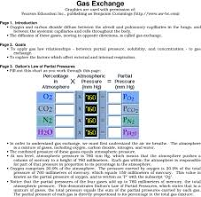 Gas Exchange Chart Gas Exchange Graphics Are Used With Permission Of Pearson