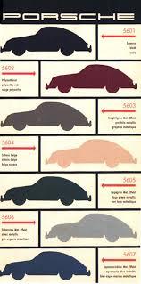 Porsche Model Chart Porsche 356 Color Chart Vintage Porsche Porsche 356 Porsche