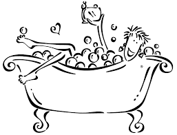 graphic free stock bath clipart black and white the soap lady