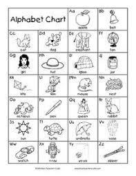 Alphabet Chart Black And White Alphabet Chart Printables Template For Pre K 1st Grade