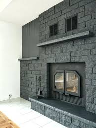how to update a brick fireplace wall how to easily paint a stone fireplace charcoal grey