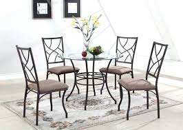 small round glass dining table for 2
