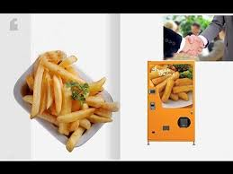 French Fries Vending Machine Extraordinary French Fries Vending MachineFrench Fry Vending Machine Video YouTube
