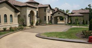 colored brown driveway concrete driveways ozark pattern concrete inc lowell ar