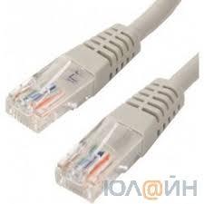"""<b>Патчкорд литой</b> """"<b>Telecom</b>"""" <b>UTP</b> кат.5е 10м серый [6242755317567]"""