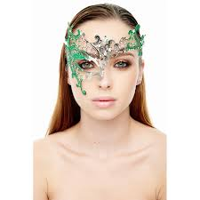 asymmetric masquerade mask with glitter inset 4