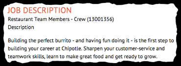 Job Descriptions Decoded: Chipotle Restaurant Team Member Job - Aol ...