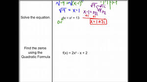 5 5 day 3 finding complex zeros of quadratic functions
