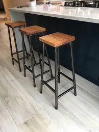 Bertie Fouroaks Steel Frame Industrial Bar Stool With