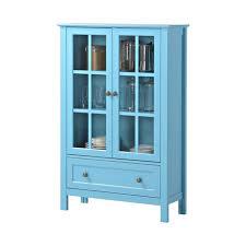 homestar 2 door 1 drawer glass cabinet image 1 of 7