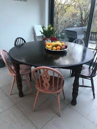 lovely large round wooden table for seats 8 10