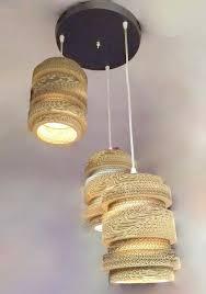 laser cut cardboard shade pendant hanging light