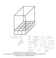 MFAS_DeterminingVolume_Image1 determining volume students analyze a rectangular prism that on volume of 3d shapes worksheet pdf