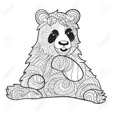 Kleurplaat Panda With Regard To Schattige Panda Tekenen Kleurplaat
