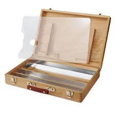wooden acrylic paint box