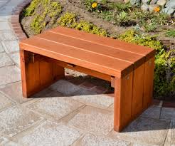 wooden bench plans small