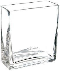 long rectangular glass vase clear rectangle block glass vase 2 by 5 by 6 inch large long rectangular glass vase