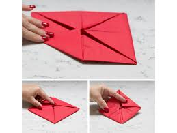 How To Make A Lotus Flower Out Of Paper Lotus Flower Origami Folded Dinner Napkins Fun365
