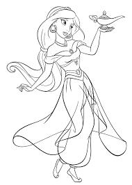 Disney Princess Coloring Pages Jasmine 14 M Sensational Inspiration