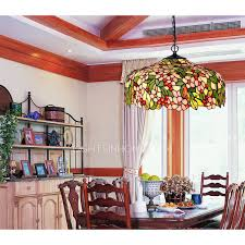 pastroal 3 light stained glass shade pendant lights