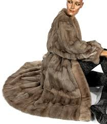 a luxurious fur coat siberian squirrel feh and mink soft