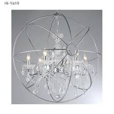 chandeliers polished chrome orb chandelier chrome crystal orb intended for chrome orb chandelier