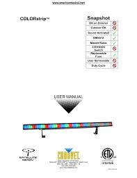 Chauvet Rgb Color Chart Chauvet Colorstrip Manual Manualzz Com