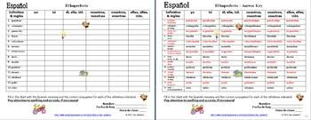 Spanish Imperfect Verb Conjugation Chart 14 Regular Verbs