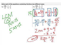 showme solving multi step equations algebra fractions with 2 worksheet tes last thumb13801 solving equations with