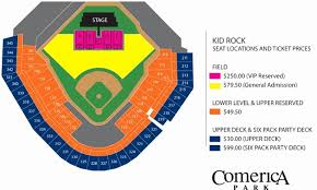 Metallica Comerica Park Seating Chart 37 Actual Comerica Park Seating
