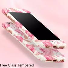 Designer Tempered Glass For Iphone 6 Flower Designs Iphone 6 6s Case And Tempered Glass Depop