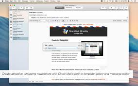 mac email templates direct mail 4 3 9 create and send great looking email campaigns