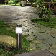 garden bollard lighting. 6PCS/lot Solar Outdoor Garden Path Lawn Light Stainless Steel Bollard Warm White Lamp-in Lamps From Lights \u0026 Lighting On D