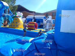 underwater water park. Underwater World Theme Inflatable Land Moving Water Park With Slide And Pool For Sale N