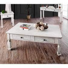 america vera rustic wood coffee table
