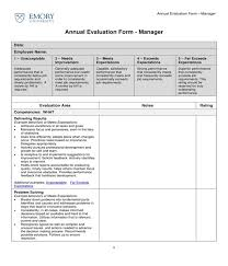 Restaurant Employee Performance Review Free 3 Restaurant Manager Evaluation Forms Pdf