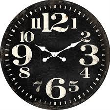 huge round black wood wall clock